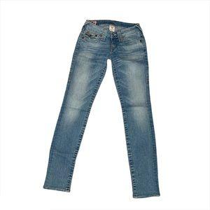 True Religion Jodie Flap Skinny Jeans